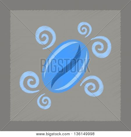 flat shading style icon beans coffee logo