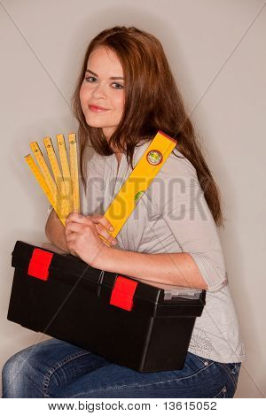 Craftswoman With Tools