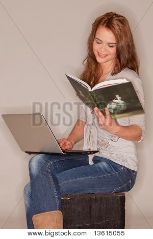 Reading And Smiling
