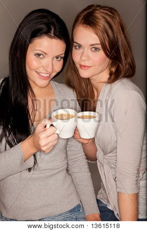 Girlfriends Trinking Some Coffee