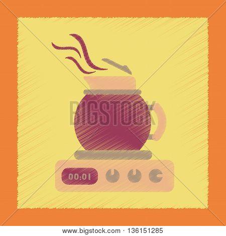 flat shading style icon coffee machine maker
