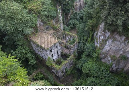 Vallone dei Mulini old sawmill in Sorrento Italy