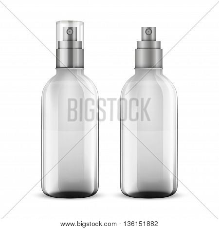 white shampoo bottle isolated on a white background. vector illustration.