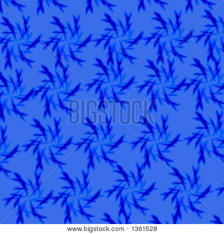 colorful abstract pattern girt wrap blue on blue poster