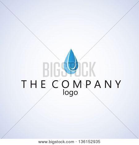 raindrop logo ideas design vector on background
