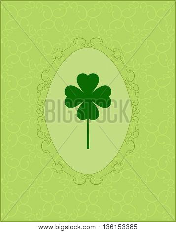Clover with Three Leaves Vector Illustration