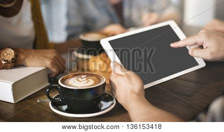 Mockup Copyspace Hands Digital Tablet Concept