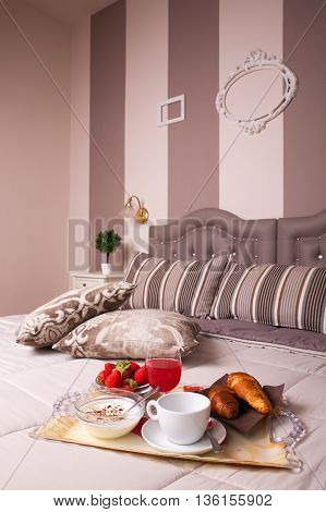 Double bedroom of the Ares Hotel Milan