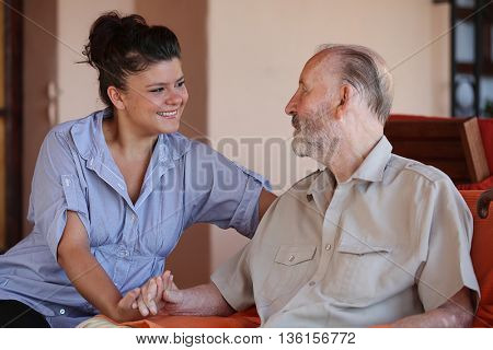 family  love grandparents and grandchildren or carer