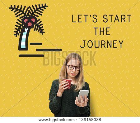 Let's Start The Journey Concept