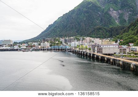 Port at Juneau Alaska from the sea