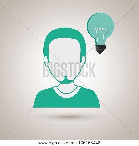 person and bulb design, vector illustration eps10 graphic