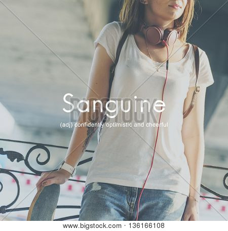 Sanguine Lifestyle Confidence Optimistic Concept