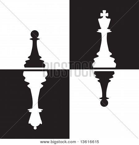 Chessmen Reflection