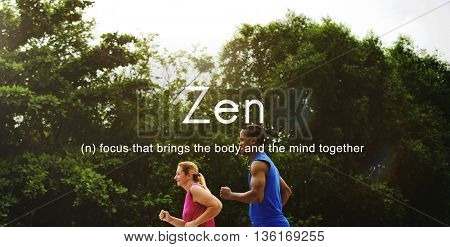 Zen Spirituality Buddhism Body and Mind Meditation Concept