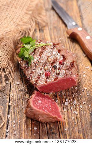 fried meat beef