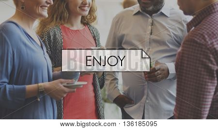 Enjoy Happiness Emotions Feelings Leisure Concept