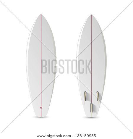 Realistic vector blank surfboard. Surfboard short, realistic surfboard, longboard surfboard illustration