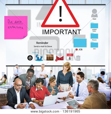 Important Importance Priority Significant Remind Concept poster