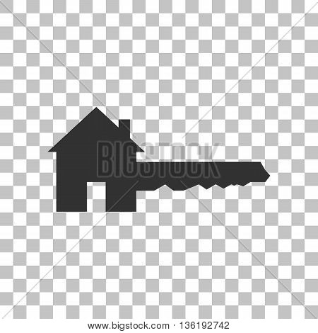 Home Key sign. Dark gray icon on transparent background.