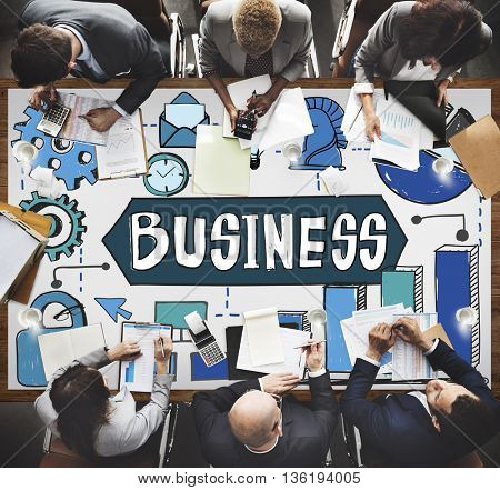 Business Strategy Growth Analysis Corporate Concept