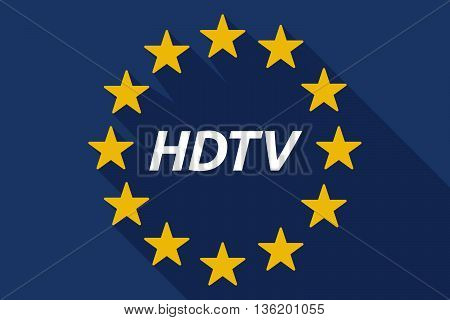 Long Shadow European Union Flag With    The Text Hdtv