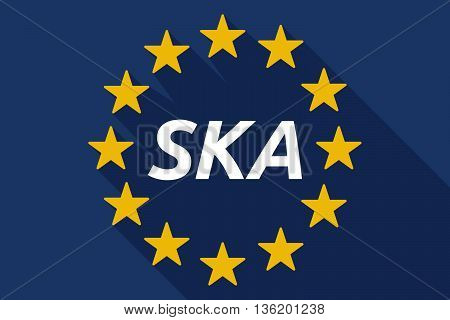 Long Shadow European Union Flag With    The Text Ska