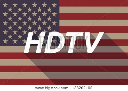 Long Shadow Usa Flag With    The Text Hdtv