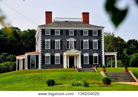 Lincoln Massachusetts - July 12 2015: The 1790 Codman House, The Grange, is a fine example of colonial federal architecture
