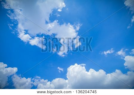 Blue Sky And Clouds. peaceful sky and cloud in good weather day.