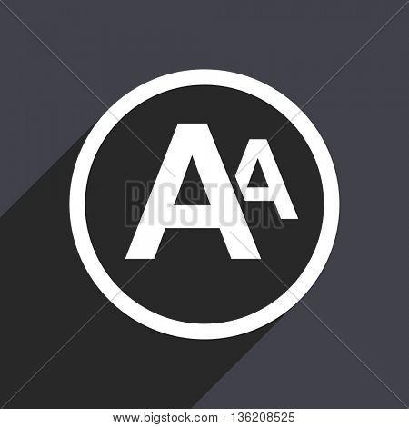 Flat design gray web alphabet vector icon