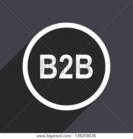 Flat design gray web b2b vector icon