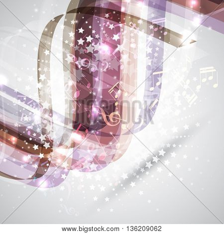Abstract design background with music notes
