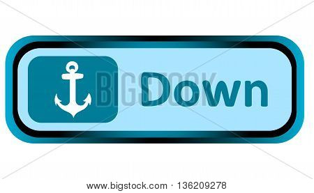 Long icon with a conceptual symbol of an anchor and an inscription of dreams