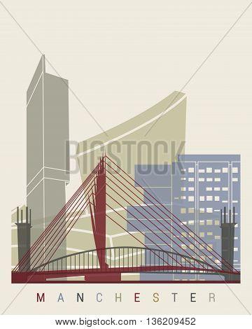 Manchester Skyline Poster