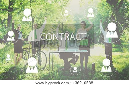 Contract Agreement Promise Contractor Contraction Concept
