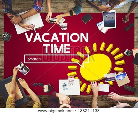 Vacation Time Graphic Meeting Concept