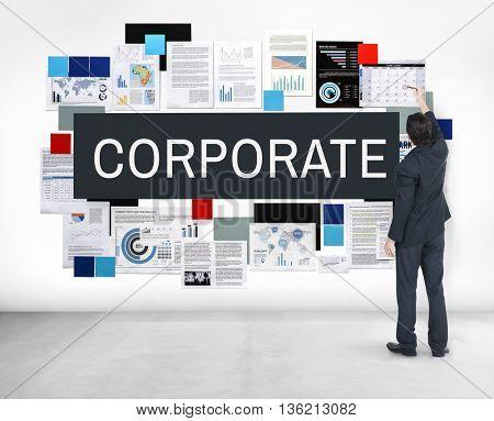 Corporate Corporation Management Business Concept