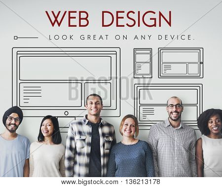 Template Layout Web UI Website Concept