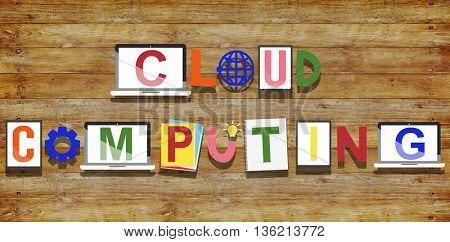 Cloud Computing Technology Online Concept