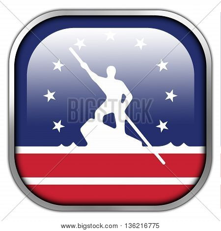 Flag Of Richmond, Virginia, Square Glossy Button