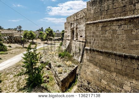 May 24 2016.Famagusta. the walls of the fortress in the old town of Famagusta .Northern Cyprus.