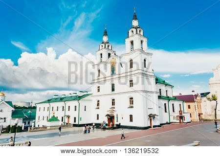 Minsk, Belarus - Jule 20, 2014: The Cathedral Of Holy Spirit In Minsk - Main Orthodox Church Of Belarus