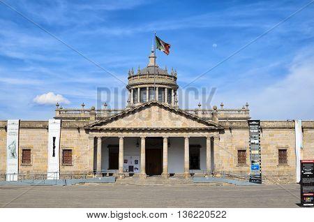 GUADALAJARA MEXICO MAY 17 2016: View to Hospicio Cabanas in the downtown