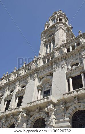 City hall in Avenue Dos Aliados Porto Portugal