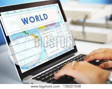 Longtitude Latitude World Cartography Concept