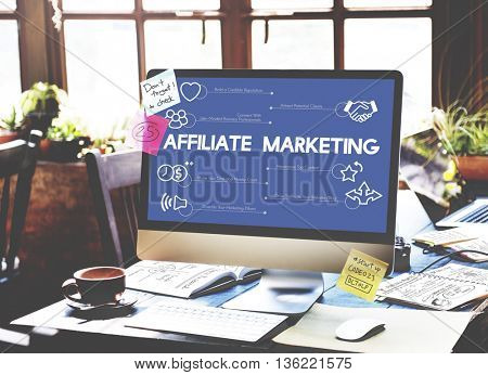Affiliate Marketing Business Concept