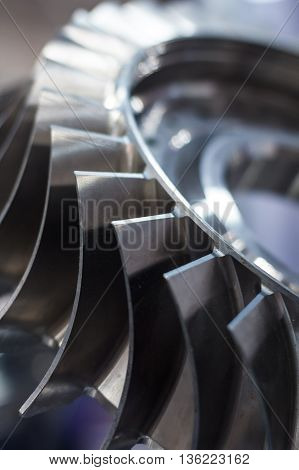 Turbine Blades Close Up