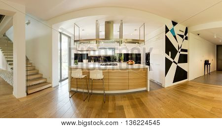 Airy And Bright Space For Modern Cooking And Living