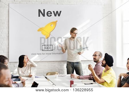 New Newly Modern Present Current Fresh Latest Concept